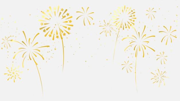 Feuerwerk gold