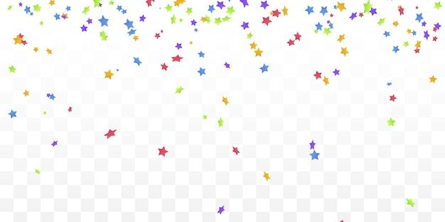 Feuerwerk konfetti elemente. buntes konfetti mit bunten sternen.