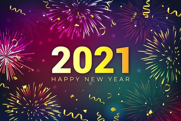 Feuerwerk neujahr 2021 konzept