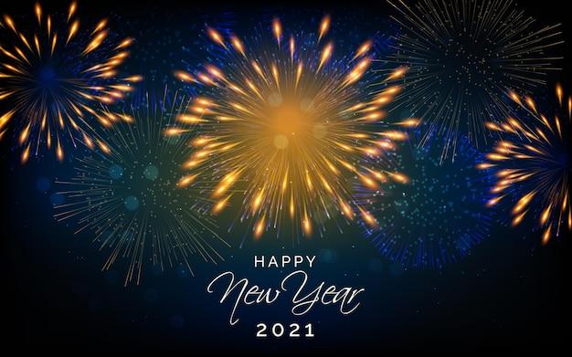 Feuerwerk neujahr 2021 Premium Vektoren