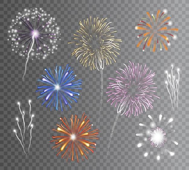Feuerwerk transparent gesetzt