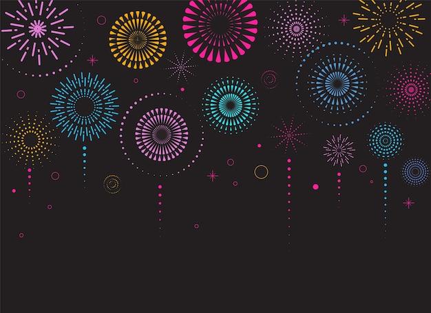 Feuerwerk und feier hintergrund, gewinner, siegesplakat, banner