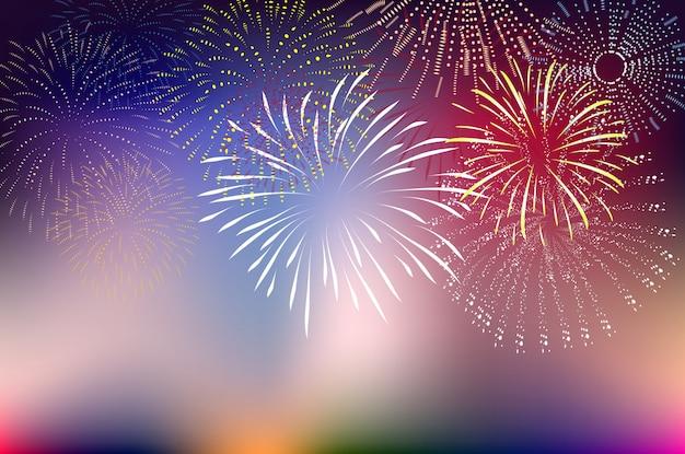 Feuerwerk und frohes neues jahr
