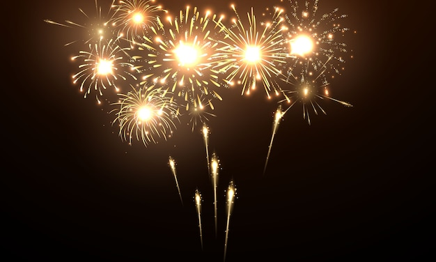 Feuerwerk und weihnachtsfeier
