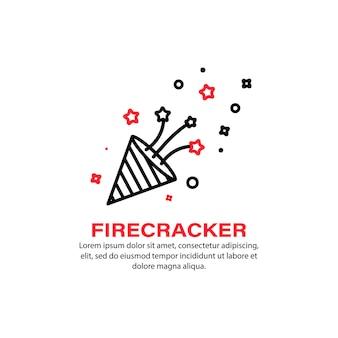 Feuerwerkskörper-symbol. feuerwerk. urlaubskonzept. vektor auf weißem hintergrund isoliert. eps 10.