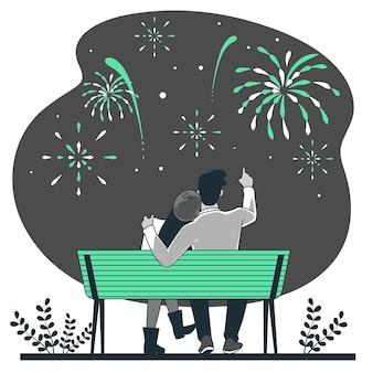 Feuerwerkskonzeptillustration