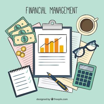 Fiancial management mit professionellen elementen
