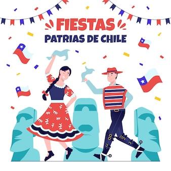 Fiestas patrias de chile konzept
