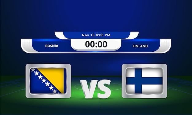 Fifa wm 2022 bosnien gegen finnland fußballspiel anzeigetafel übertragen
