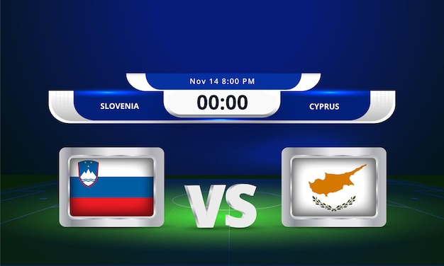 Fifa wm 2022 solvenia vs zypern fußballspiel anzeigetafel übertragen