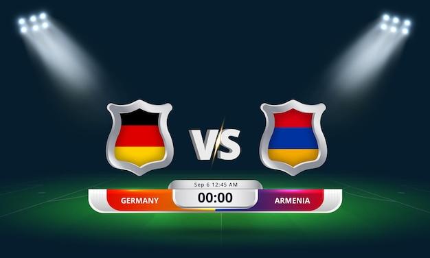 Fifa wm-qualifikation 2022 deutschland vs. armenien fußballspiel