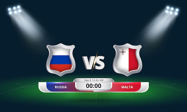 Fifa wm-qualifikation 2022 russland vs. malta fußballspiel