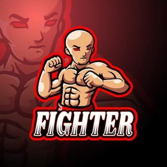 Fighter esport logo maskottchen design