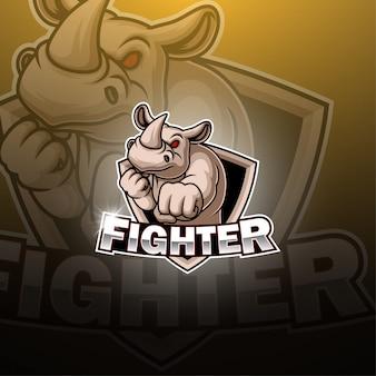 Fighter esport maskottchen logo design