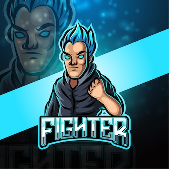 Fighter esport maskottchen logo design