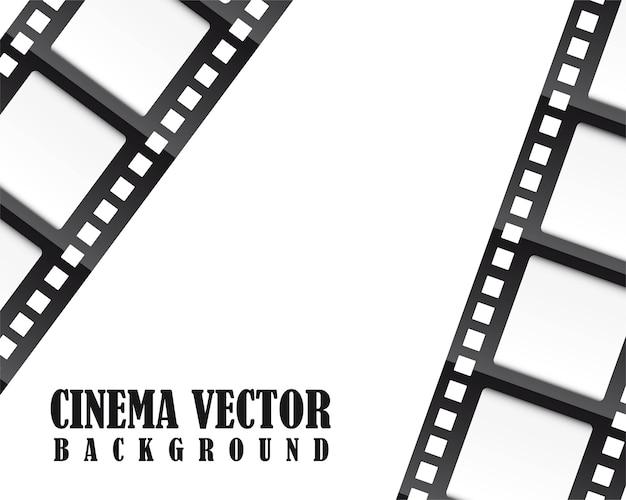 Film film über weißem hintergrund vektor-illustration