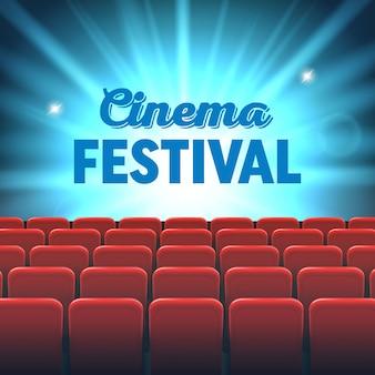 Film kinoleinwand rahmen und theater interieur.
