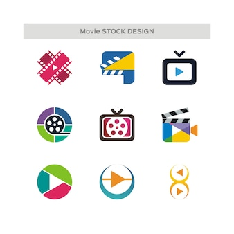 Film lager design-logo