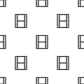 Film, nahtloses vektormuster, bearbeitbar kann für webseitenhintergründe verwendet werden, musterfüllungen