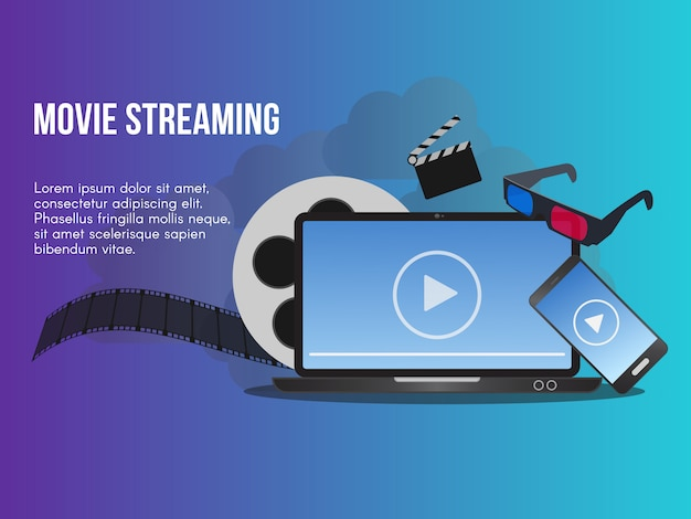 Film-streaming-konzept