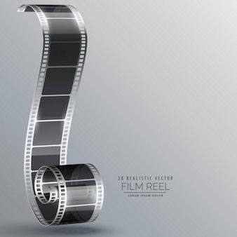 Film-streifen in 3d-stil