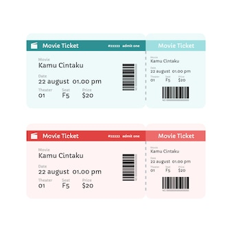 Film ticket vorlage