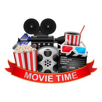 Film Zeit Hintergrund Illustration