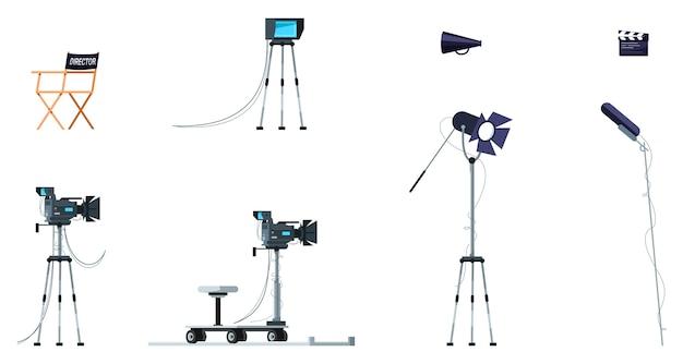 Filmausrüstung halbflaches rgb-farbset