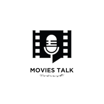Filme podcast premium logo design