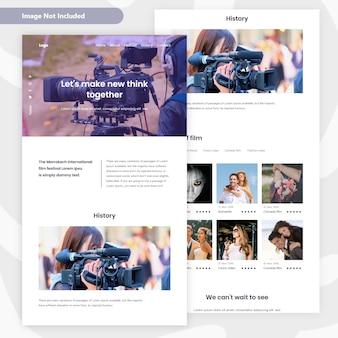 Filmemacher laning page design