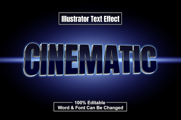 Filmischer tittle-text-effekt