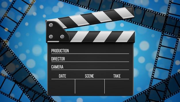 Filmklappe, klappe, kinoschiefertafel.