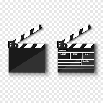 Filmklappe lokalisiert auf transparentem hintergrund
