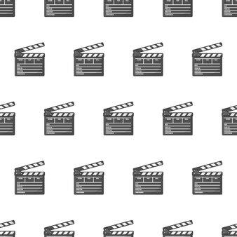 Filmklappe nahtloses muster cla