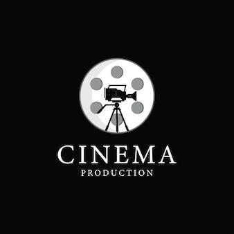 Filmproduktion logo-design-vektor-illustration