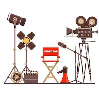 Filmregisseur am arbeitsplatz