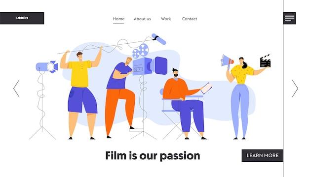 Filmregisseur steuern des filmaufnahmevorgangs