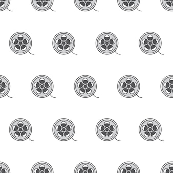 Filmrolle kino kino nahtlose muster auf weißem hintergrund. kinofilm-thema-vektor-illustration