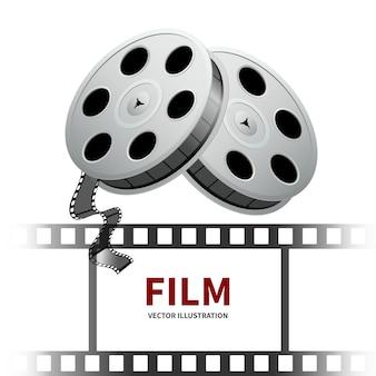 Filmrolle, klebeband, bobina, realistisch auf licht isoliert