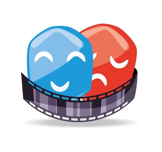 Filmstreifen mit genreszene zum kurzfilm