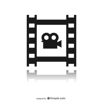 Filmstreifen mit symbol