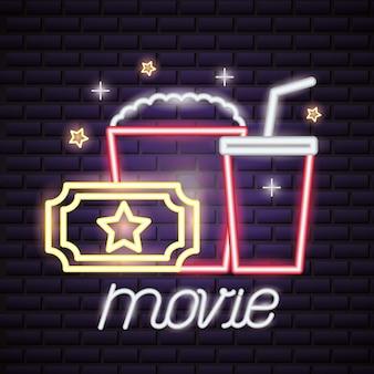 Filmzeit leuchtreklame zeichen
