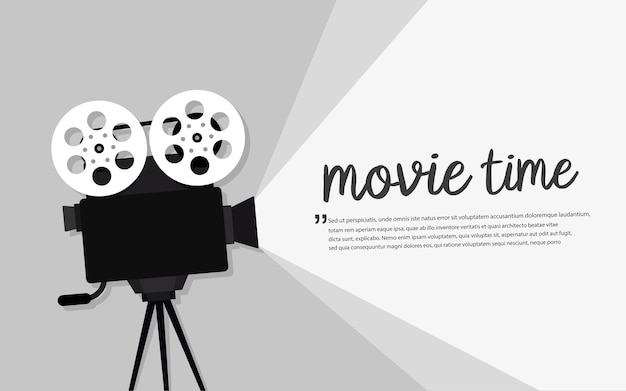 Filmzeitkonzept. kino banner design