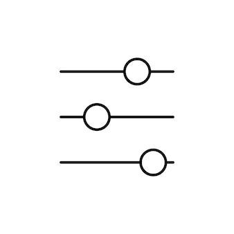 Filterkontrolle. anpassungssymbol. symbol für die einstellungen der filtersteuerung. vektor-illustration