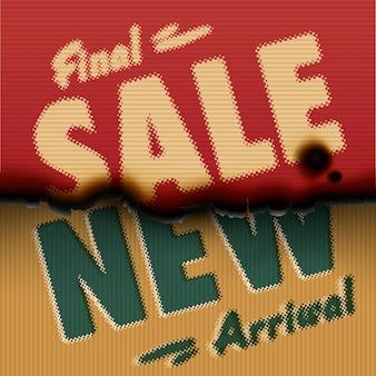Final sale new arrival vintage gebrannte papierschablone mit text