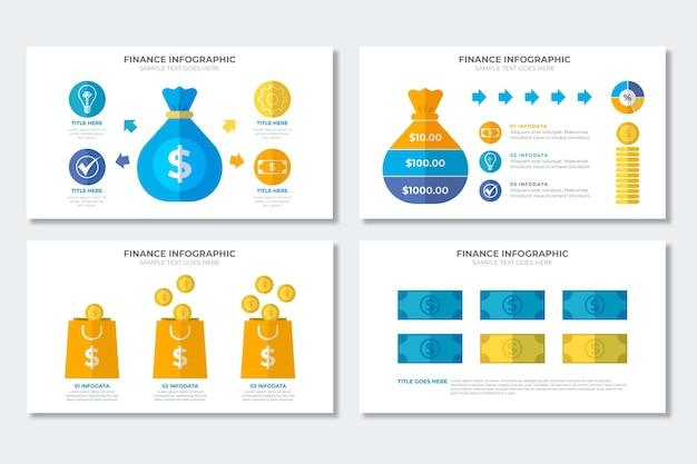 Finanz infografik sammlung
