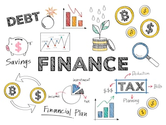 Finanz- und Finanzleistungskonzeptillustration