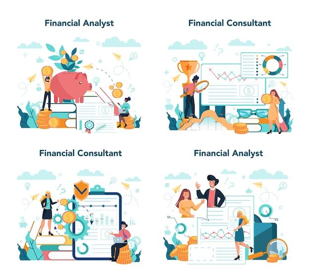 Finanzberater oder finanzier-konzeptsatz