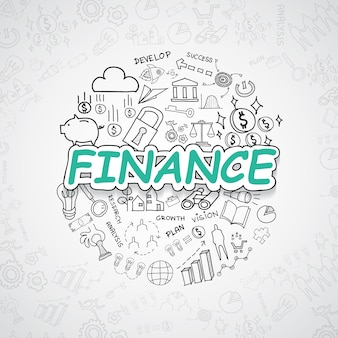 Finanzelemente illustratio