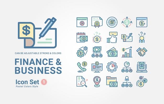 Finanzen & business icon-sammlung
